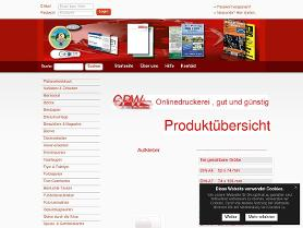 Screenshot von http://www.cpw-shop.de
